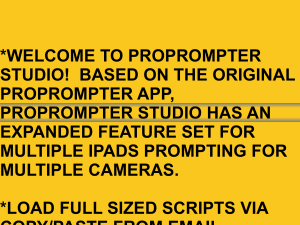 Pro prompter Screen Shot