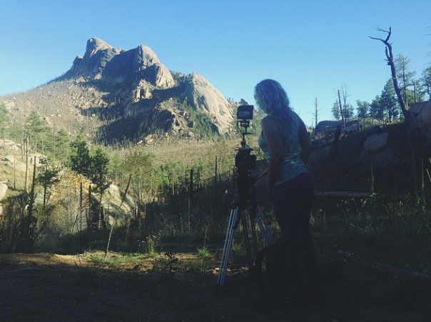 quick bts shot Red Epic mountains