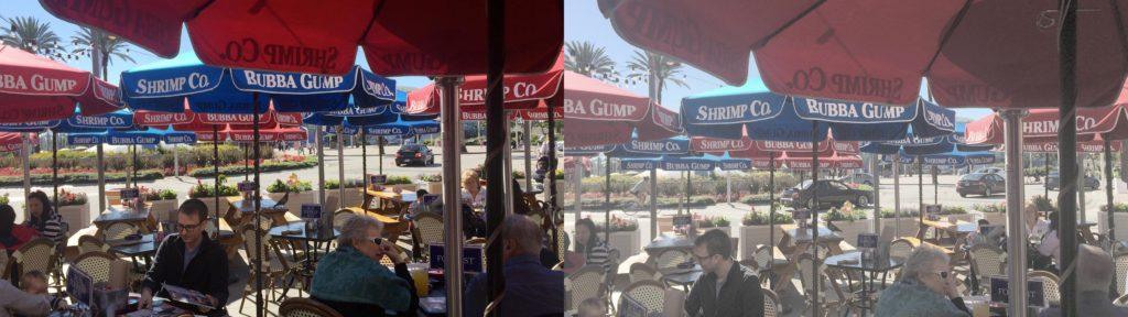 restaurant log compare iPhone log