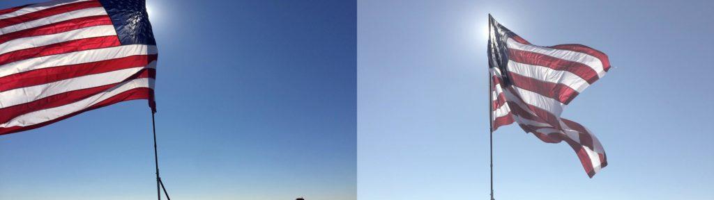 flag sky iPhone log compare